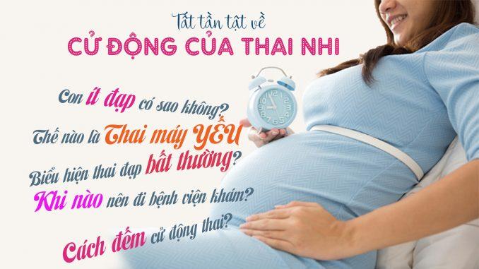 Cách đếm cử động của thai nhi