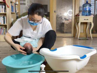 dịch vụ tắm bé tại nhà Bluecare